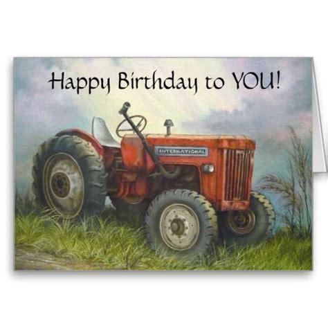 Tractor Birthday Card Free Tractor Birthday Cards Birthday Old International