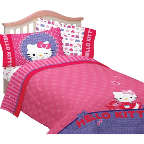 walmart bedding twin hello kitty microfiber twin full reversible comforter