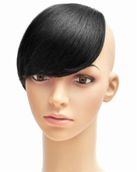 black clip on bangs fashion girls clip on front clip bangs clip side bang clip