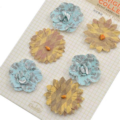 Handmade 3d Flowers - handmade 3d paper flowers diy scrapbooking album decor
