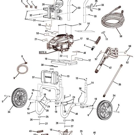 craftsman pressure washer parts diagram craftsman 1800 psi power washer parts craftsman tractor
