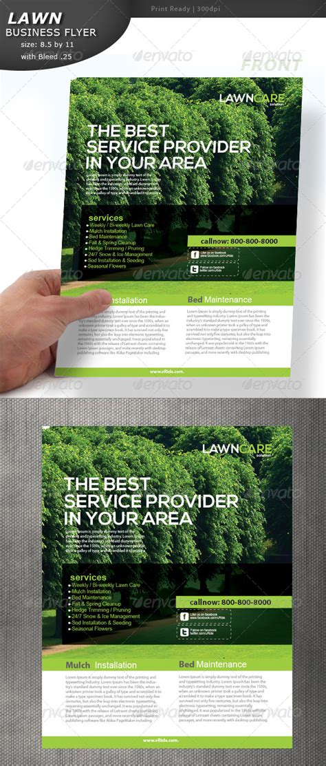 lawn card flyer template free lawn care flyer by designcrew graphicriver