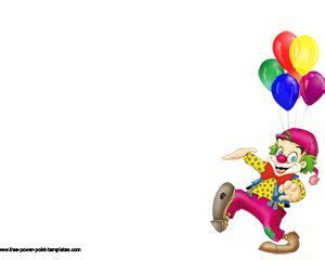 clown funny powerpoint template ppt template