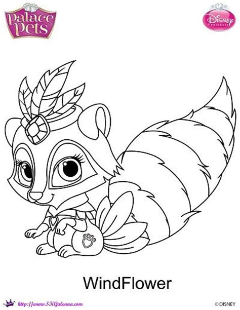Disney Princess Palace Pets Windflower Coloring Page Princess Palace Pets Pictures Free Coloring Sheets