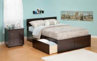 Size Platform Bed With Drawers Underneath Espresso Size Bed With Drawer Bedding Storage