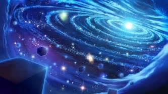 Outer Space Wall Mural light art blue space star universe digital galaxy hd