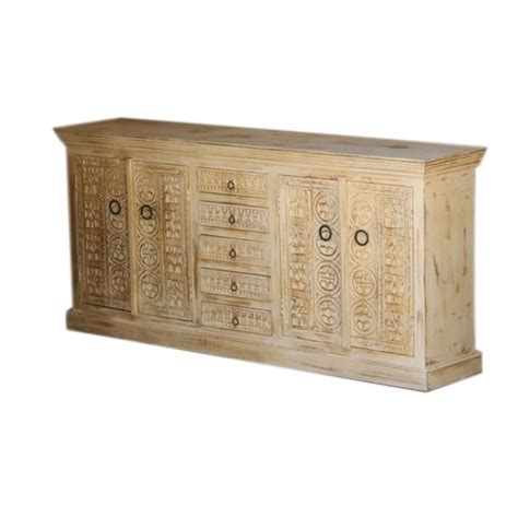 sideboard 2m mughal garden carved door antique sideboard with drawers 2m