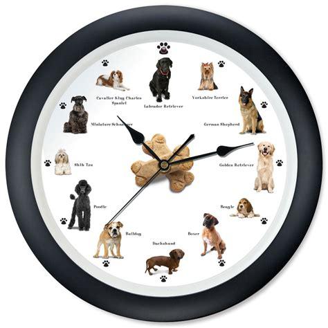 cat  dog clocks hammacher schlemmer