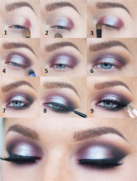 makeup tutorial video step by step eye makeup pictures to pin on pinterest