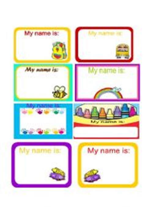 Esl Printable Name Tags | english worksheet name tags