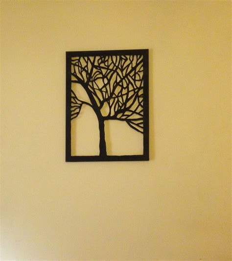 at home wall decor amazing diy canvas tree cut out wall art home decor idea