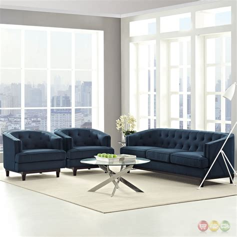 Modern Armchairs For Living Room by Coast Modern 3 Pc Upholstered Sofa Armchairs Living Room
