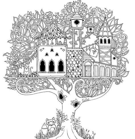 secret garden coloring page 1 casa de arvore dificil para colorir pinterest