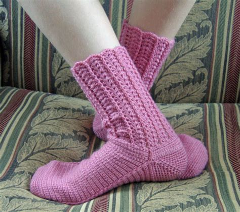 crochet pattern socks beginners beginner crochet sock pattern free patterns