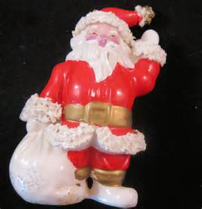 1950s santa claus ceramic figurine 4 3 4 by
