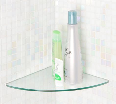 Bathroom Glass Corner Shelves Shower by Glass Shower Corner Shelf Home Decorations Shower