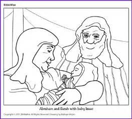 coloring abraham and sarah with baby isaac kids korner