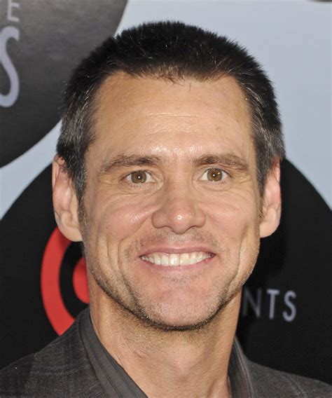 hairstyles number 3 jim carrey short straight casual hairstyle