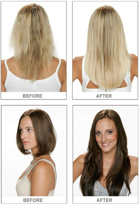 before after hair extensions dreamcatchers hair extensions la mode salon