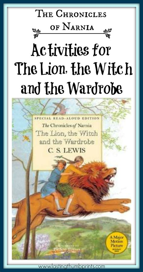 the the witch and the wardrobe picture book unit study archives lasting thumbprints