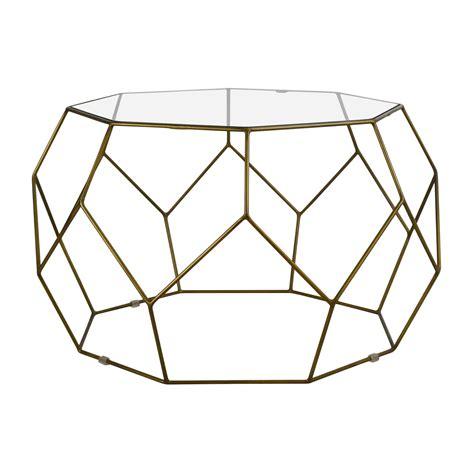 geometric glass coffee table coffee on a budget
