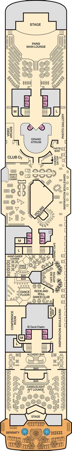 inspiration ship layout carnival inspiration deck plans ship layout staterooms