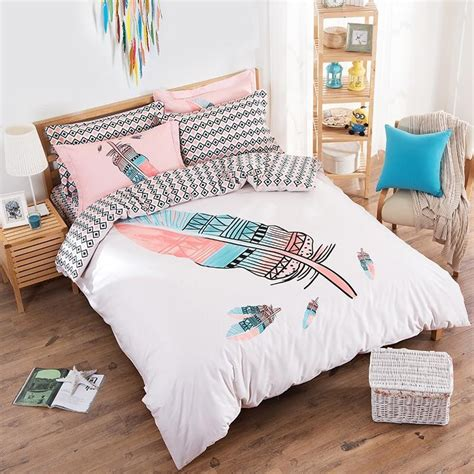 cute queen bedding 100 cotton cute cartoon boho queen size bedding set