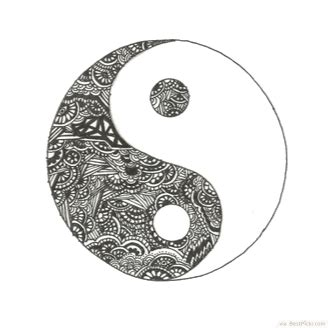 yin yang henna tattoo designs