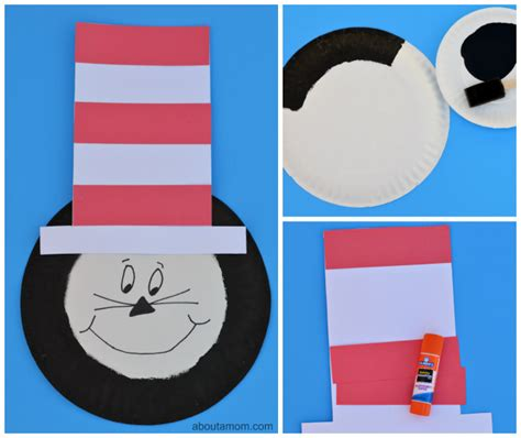 Cat In The Hat Paper Plate Craft - the cat in the hat kid craft about a