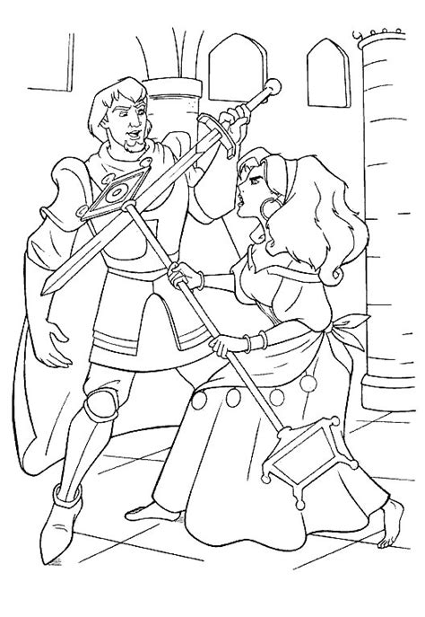 disney coloring pages hunchback notre dame coloring page the hunchback of the notre dame coloring