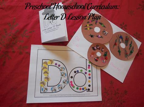 preschool homeschool curriculum letter  lesson plan
