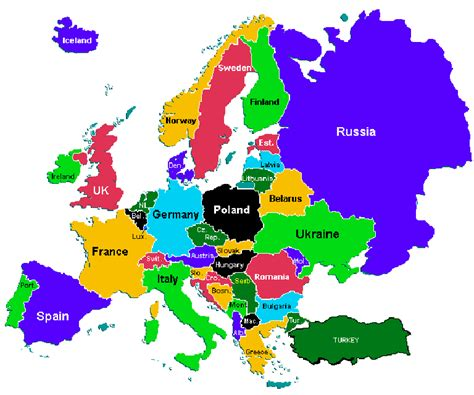 europe map with country names name that country 2 the answers