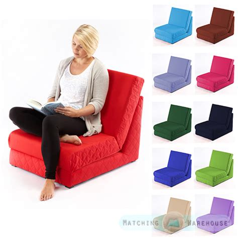 Z Bed Chair folding z bed single chair bed 1 seater sofa fold out guest beds mattress futon ebay