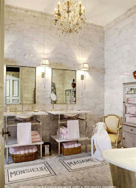 parisian bathroom decor his and her bath mats french bathroom house beautiful