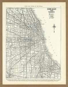 vintage chicago map vintage map of chicago illinois from 1936 antique 1930s placesintimem