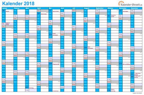 Kalender 2018 Ferien Kostenlos Kalender 2018 Zum Ausdrucken Kostenlos