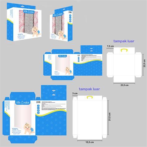 layout desain kemasan sribu packaging design desain kemasan box untuk pakaian b