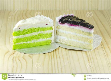 Kue Chiffon Mister No Kumis Berries blue berry cake and pandan layers chiffon cake stock photo image 60625581