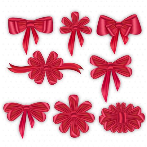 decorative bows decorative bows collection vector premium