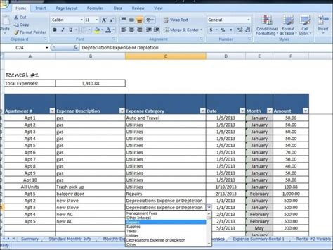 Real Estate Flow Analysis Spreadsheet by Rental Property Expenses Spreadsheet Template Real Estate