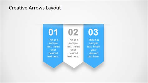 creative arrows layout  powerpoint slidemodel