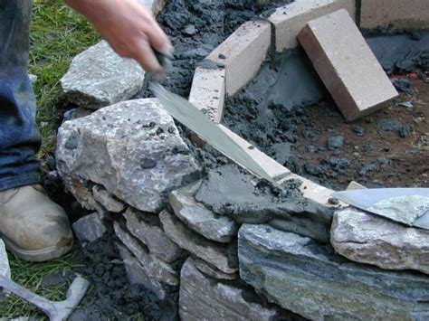 building pit mortar how to set stones for a pit how tos diy