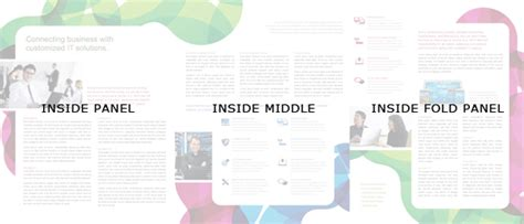 brochure layout inside how to create an 11 x 25 5 large format tri fold brochure