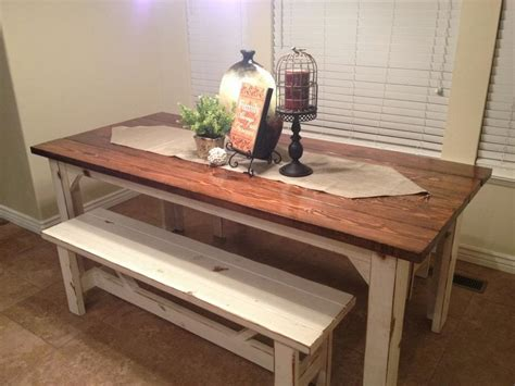 Bench Style Kitchen Table by Rustic Nail Farm Style Kitchen Table And Benches To Match