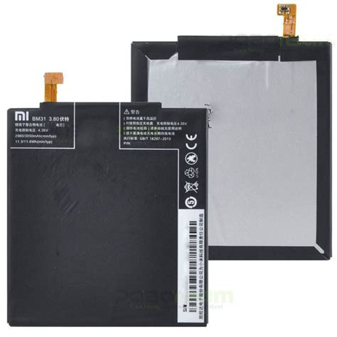 Baterai Dobel Power Xiaomi Bm 31 Mi 3 replacement battery for xiaomi mi3 3050mah bm31 black