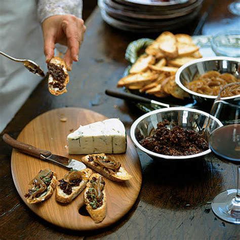 cooking light appetizers crostini with gorgonzola caramelized onions and fig jam