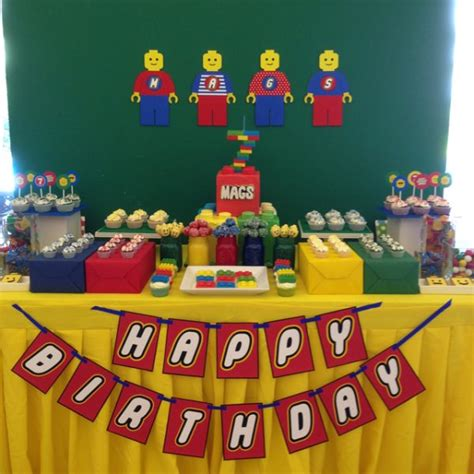 lego themed birthday party lego themed 7th birthday party one charming day