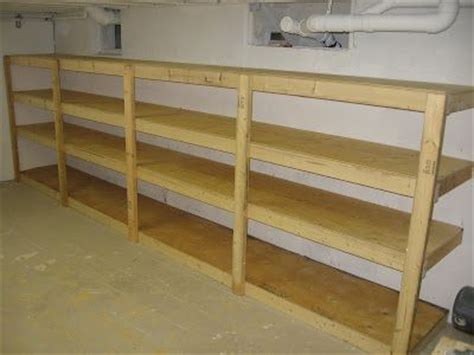 basement shelving 2x4 storage diy storage ideas