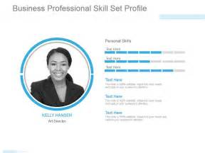 powerpoint profile template business professional skill set profile powerpoint slide
