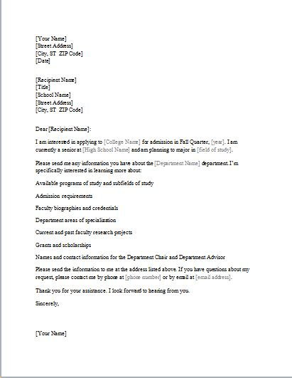 letter for cancellation of admission in college college admission information requesting letter document hub